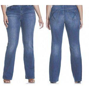 Lane Bryant tighter tummy bootcut jeans 28